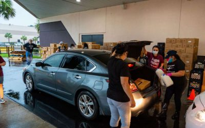 Houston event center hosts food drive for families affected by COVID-19