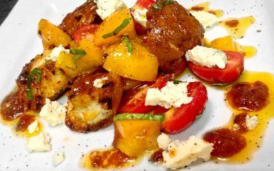 Chunky Panzanella Salad with Tomato Vinaigrette