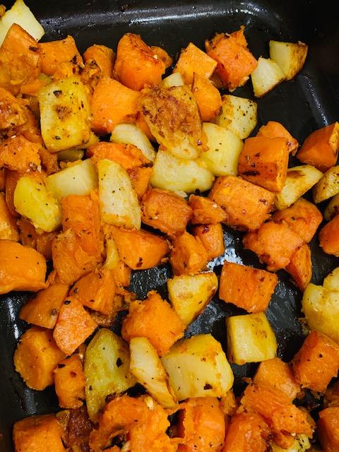 Roasted Potatoes with Tahini Sauce