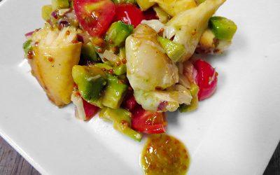 Stone crab & Florida Avocado Salad with Mustard Vinaigrette