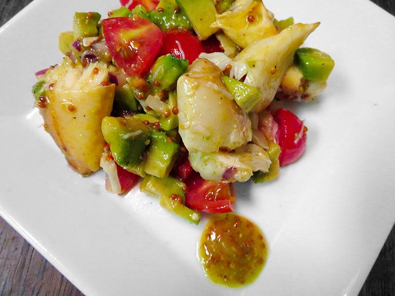 Stone crab and Florida Avocado Salad with Mustard Vinaigrette